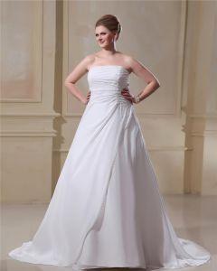 Perles En Mousseline De Soie Sans Bretelles Plus La Taille Robe De Mariage Nuptiale Robe