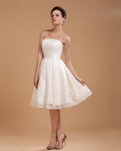Spitzenstickerei Kurz Brautkleider Hochzeitskleid