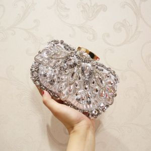 Luxury / Gorgeous Silver Rhinestone Clutch Bags 2018