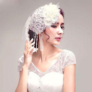Brillance Strass Dentelle Fleurs Mariée Coiffure / Fleur Tete / Accessoires De Cheveux De Mariage / Bijoux De Mariage