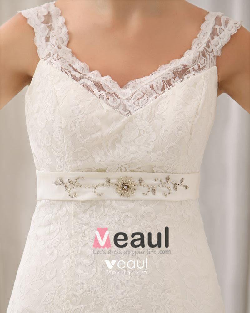 Stylish Floor Chapel Train Sweetheart Satin Lace Mermaid Wedding Dress
