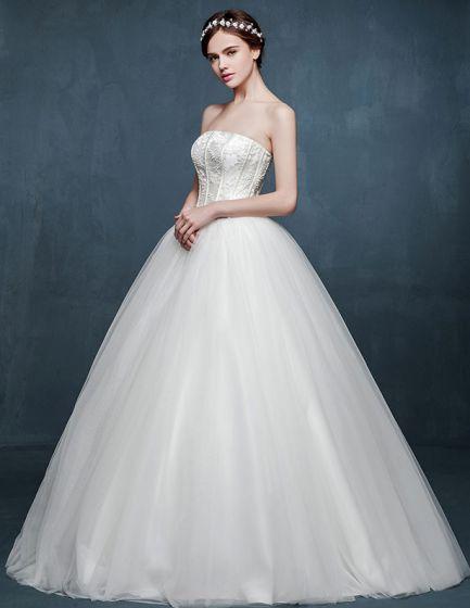 Vit Fashion Typ A Kla Slim Brudklänning Bröllopsklänningar