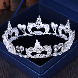 Chic / Beautiful Silver Rhinestone Metal Tiara 2018 Wedding Accessories