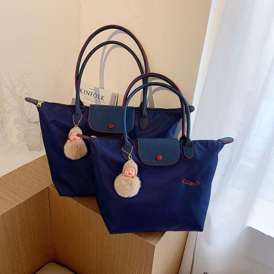 Mode Bleu Marine Sac fourre-tout Sacs à bandoulière Sac à main 2021 Toile Désinvolte Sacs Pour Femmes