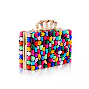 Colored Multi-Colors Rhinestone Clutch Bags 2019 Accessories
