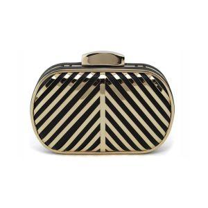Mode Metallhohl Streifen Hand Paket Damen Tasche Clutch