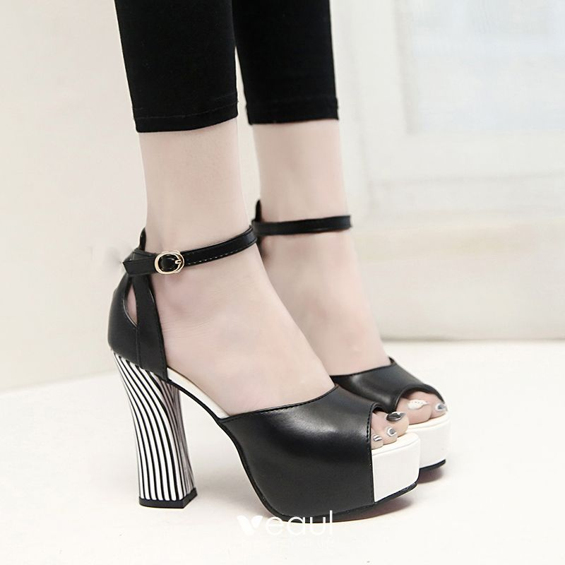Modern / Fashion 2017 White Hall Leatherette Fall High Heels Stiletto Heels Pumps