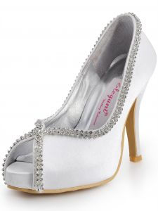 Simple Fine Summer Party Shoes With Rhinestones Wedding Shoes Fish Head