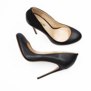 Modest / Simple Black Office Pumps 2020 12 cm Stiletto Heels Pointed Toe OL Pumps