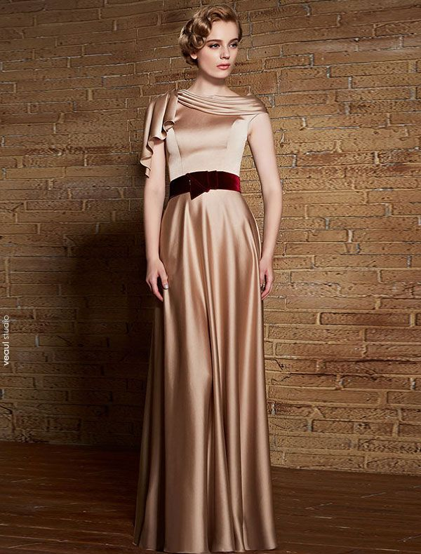 Elegant Evening Dress 2017 Ruffle Long Formal Gown With Sash