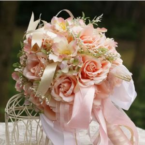 Simulation Exquisite Silk Flower The Bridal Roses Bouquets Wedding Flowers
