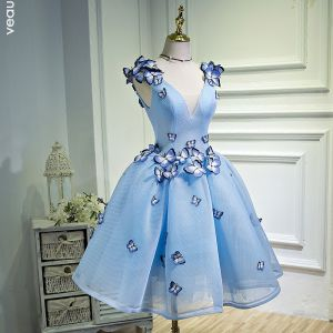 Graduation blue dress