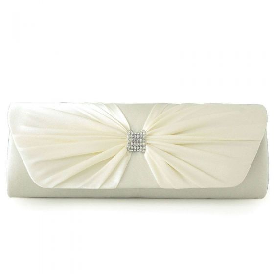 Modest / Simple Beige Clutch Bags Butterfly Beading Rhinestone Velour Cocktail Party Evening Party Accessories 2019