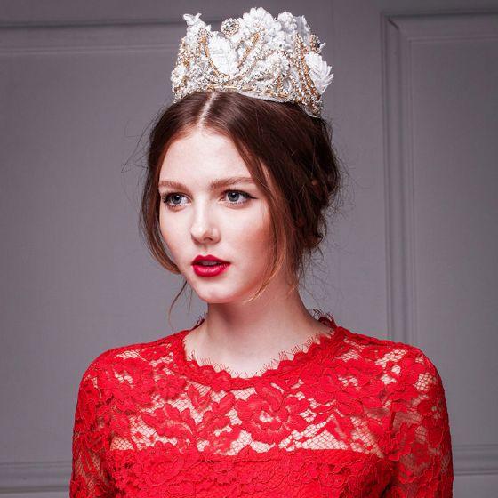 Luksus Blonder Diamant Krone / Plus Size Tiara