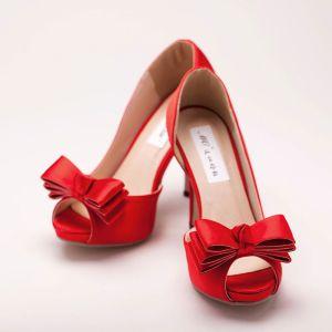 Tete De Poisson Papillon Noeud Mariée De Chaussures / Chaussures De Mariage / Chaussures Femme