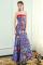 Chiński Styl Królewski Niebieski Sukienki Wieczorowe 2019 Syrena / Rozkloszowane Bez Ramiączek Kutas Kryształ Haftowane Bez Rękawów Bez Pleców Długie Sukienki Wizytowe