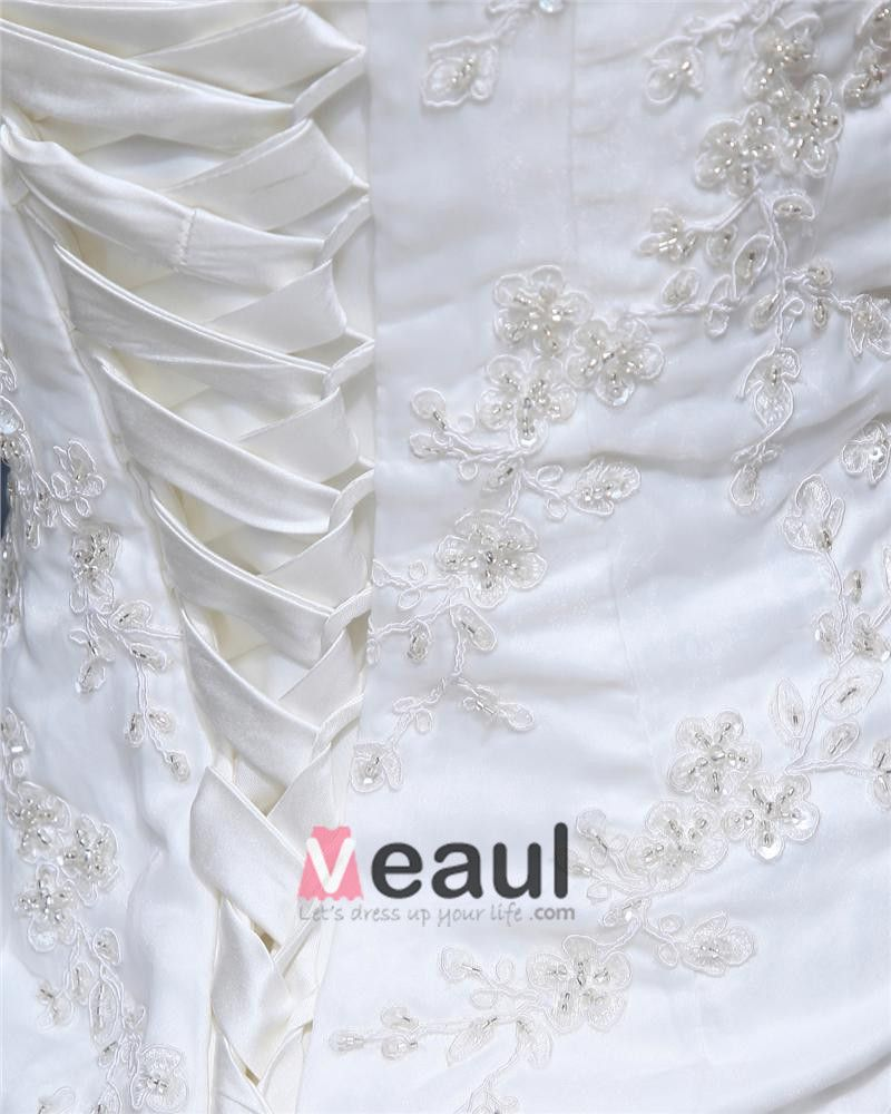 Sweetheart Lace Up Floor Length Sleeveless Cathedral Train Applique Ruffle Layered Organza Woman Mermaid Wedding Dress