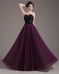Chiffon Beads Ruffles Sweetheart Floor Length Prom Dress