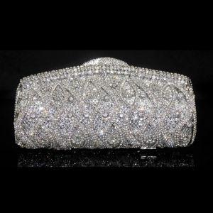 Diamant Sac De Soirée Version Personnalisee De Luxe De Sacs À Main Pour Dames Robe De Mariée Pochettes
