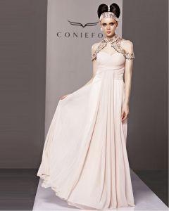 Slim Sweetheart Floor Length Beading Tencel Evening Dress