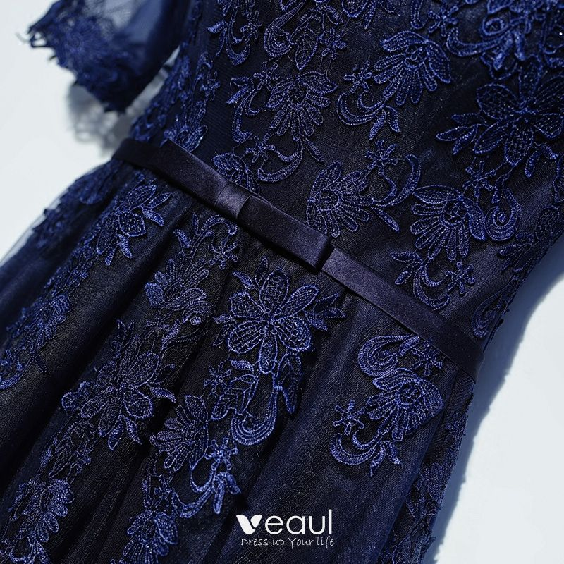 elegante marineblau festliche kleider ballkleider 2017 mit. Black Bedroom Furniture Sets. Home Design Ideas