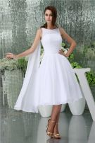 Simple A-line Shoulders Short Wedding Dress Bridal Gown