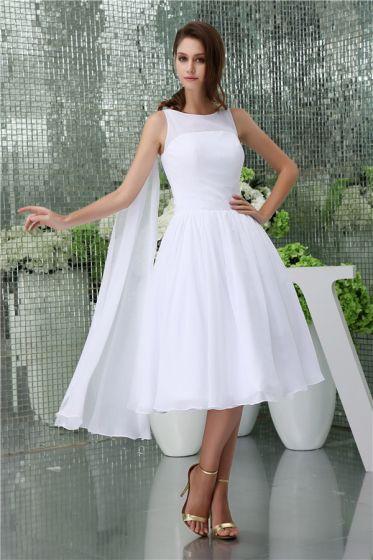 Simple A-line Shoulders Short Wedding Dress
