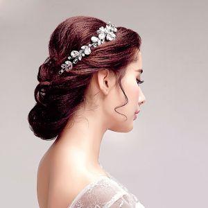 Glans Strass Bloem Bruids Hoofdtooi / Head Bloem / Bruiloft Haar Accessoires / Bruiloft Sieraden