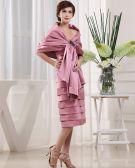 Sweetheart Sleeveless Zipper Beading Tea Length Satin Mother of the Bride Dress
