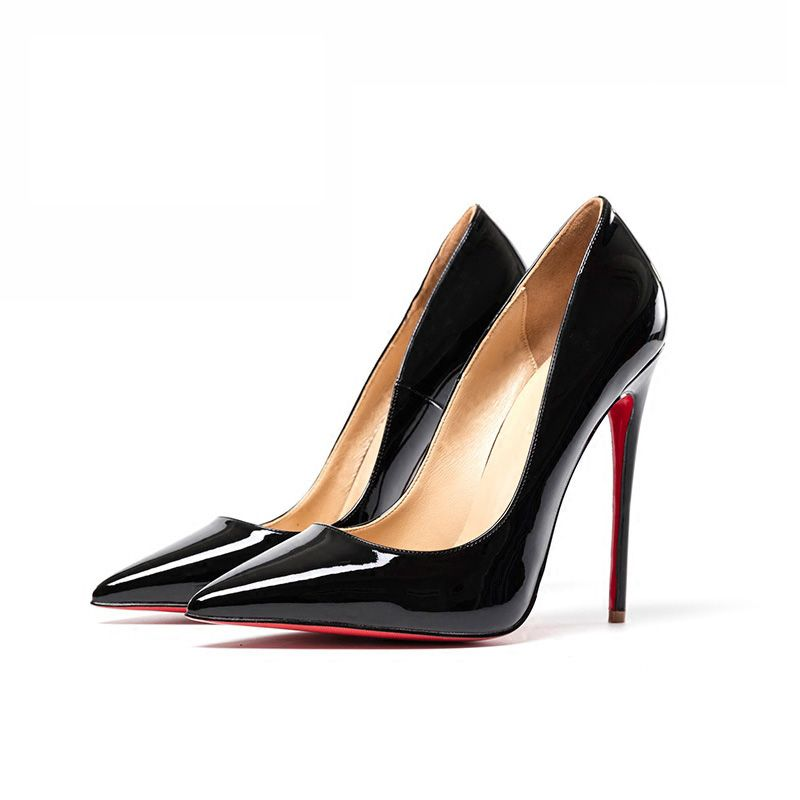 Classy Red Evening Party Pumps 2019 Patent Leather 12 cm Stiletto Heels Pointed Toe Pumps