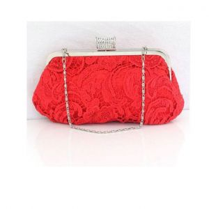 Lace Openwork Design Red Bridal Bag Dress Clutch Bag Clutch Bags