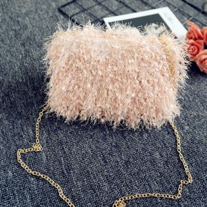 Modern / Fashion Blushing Pink Beading Clutch Bags 2018