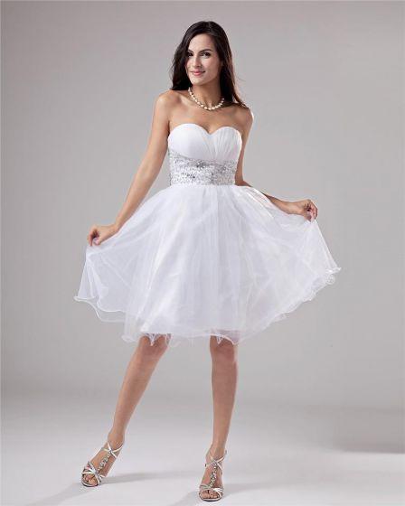 Linke Przedzy Aplikacja Plisowana Długosc Kochanie Udo Tanie Sukienki Koktajlowe Sukienki Wizytowe