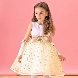 Champagne Flower Girl Dresses Lace Princess Dress