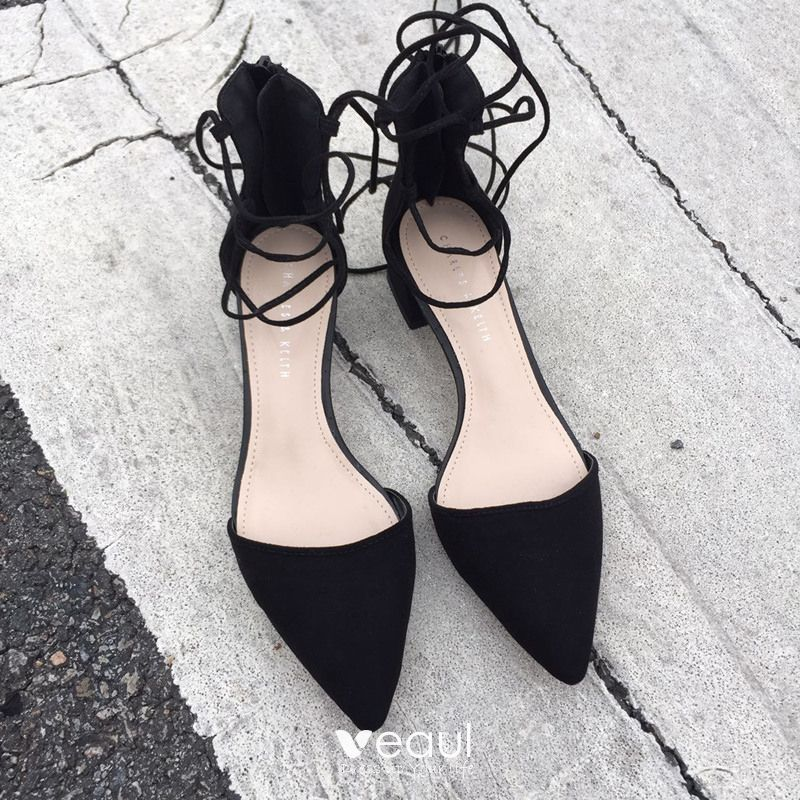 Chic / Beautiful 2017 5 cm / 2 inch Black Red White Casual Leatherette Summer Low Heels / Kitten Heels Pumps