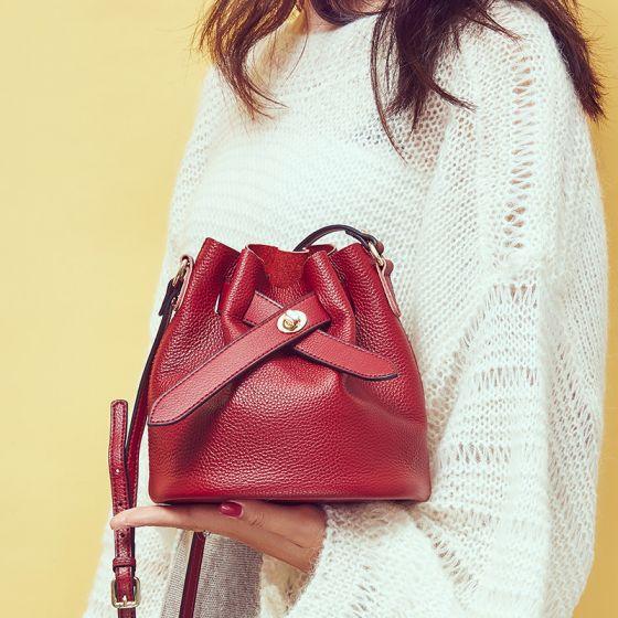 Moda Borgoña Bolsas de hombro Bolsa de mensajero 2021 PU Casual Bolsos de mujer