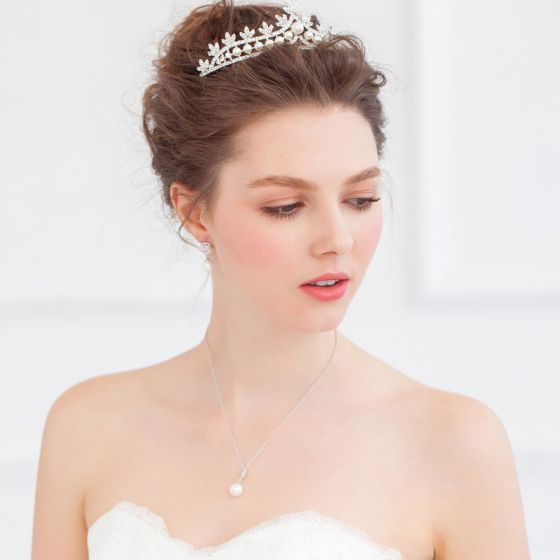 Bruids Sieraden / Ketting / Oorbellen / Tiara