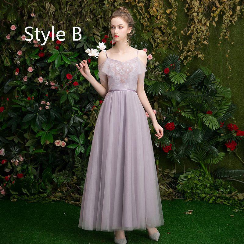 Affordable Lavender Bridesmaid Dresses 2019 A-Line / Princess Appliques Lace Sequins Sash Floor-Length / Long Ruffle Wedding Party Dresses