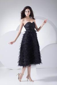 Mode Tulle Plisse Cherie Ruffle The Robe De Graduation De Longueur