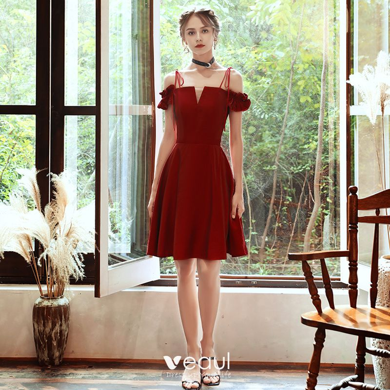 Short Red Homecoming,Red Spaghetti Strap Short Dress ,Fall Graduation Dresses,Red Homecoming,Prom Dresses a Line One Shoulder Strap,Affordable Homecoming Dresses,Red One Sleeve Short Dresses for Prom,Graduation Dresses 2020,