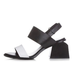 Chic / Beautiful Mid Heel Sandals 2017 Leather Open / Peep Toe Thick Heels Mid Heels Womens Sandals