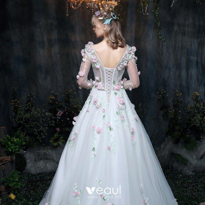 Amazing / Unique Outdoor / Garden Wedding Dresses 2017