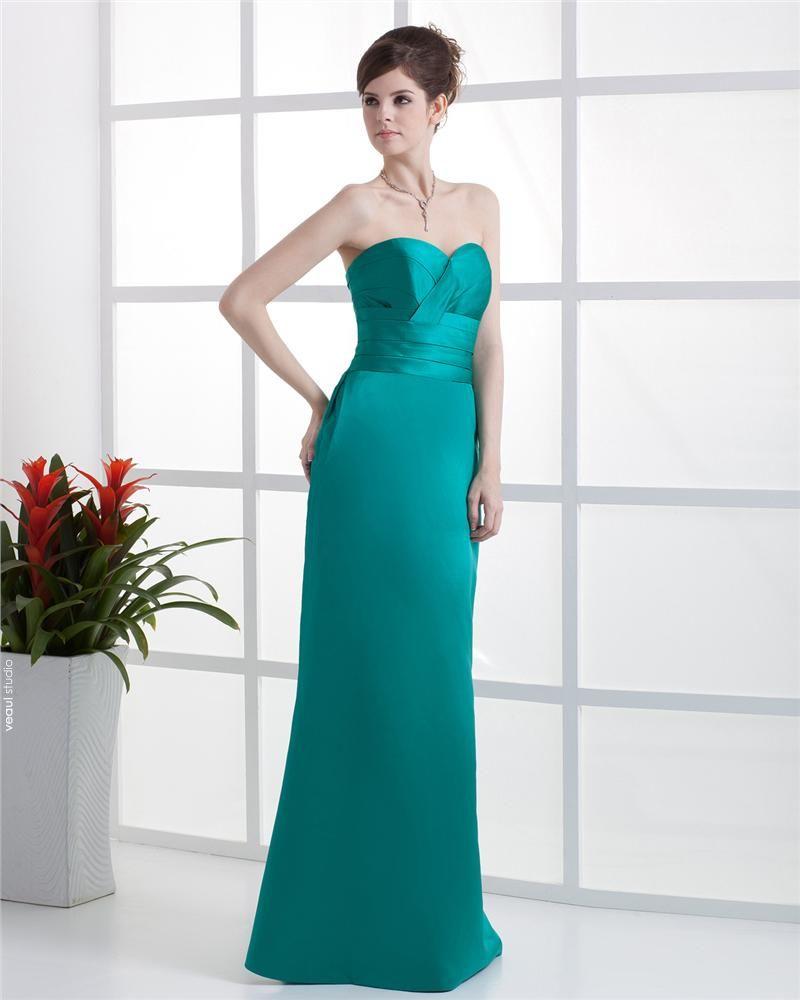 Sweetheart Ruffle Sleeveless Zipper Floor Length Charmeuse Woman Bridesmaid Dresses
