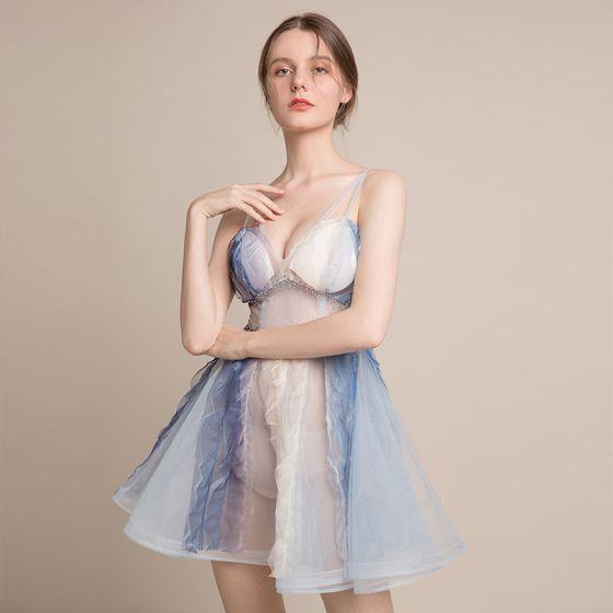 Vestido azul turqui corto