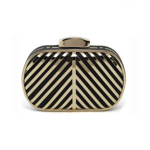 Fashion Metal Hollow Streaks Hand Packet Ladies Handbag Clutch Bags