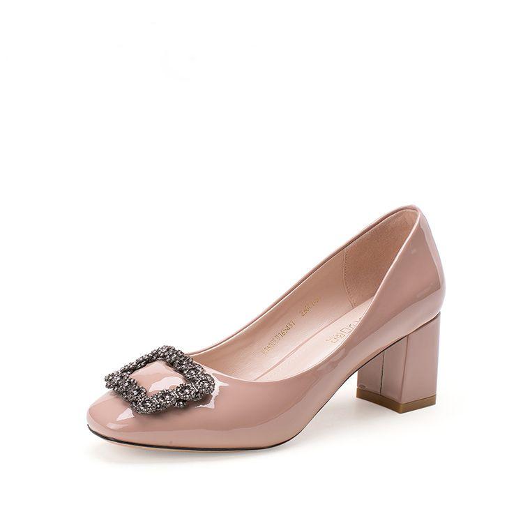 Chic / Beautiful 2017 5 cm / 2 inch Beige Black Casual Evening Party Outdoor / Garden PU Apricot / Beige Knee High Rhinestone High Heels Stiletto Heels Pumps