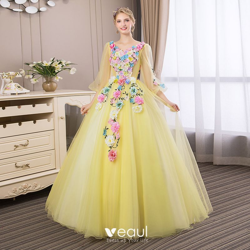 63d61a60d509a affordable-flower-fairy-yellow-prom-dresses-2018-ball-gown-appliques-v-neck -backless-3-4-sleeve-floor-length-long-formal-dresses-800x800.jpg