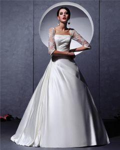 A-linie Hochzeitskleid Kleid Langarm