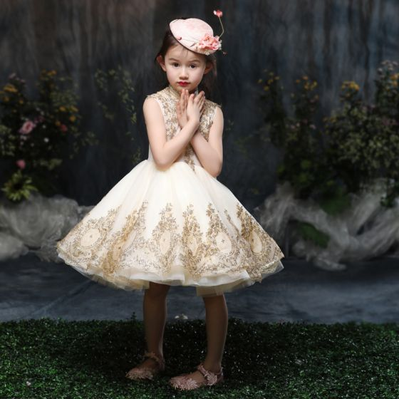 Kirke Kjoler Flotte 2017 Bryllup Guld Pige Til Prinsesse q6p4pd
