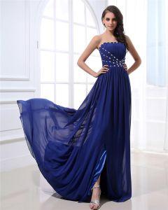 Stylish Strapless Floor Length Chiffon Evening Dresses